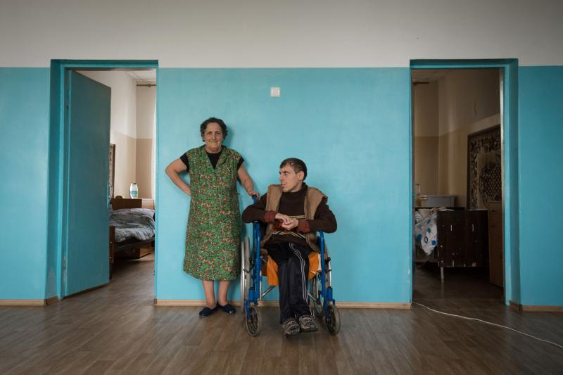 Mother and son congenital cerebral palsy